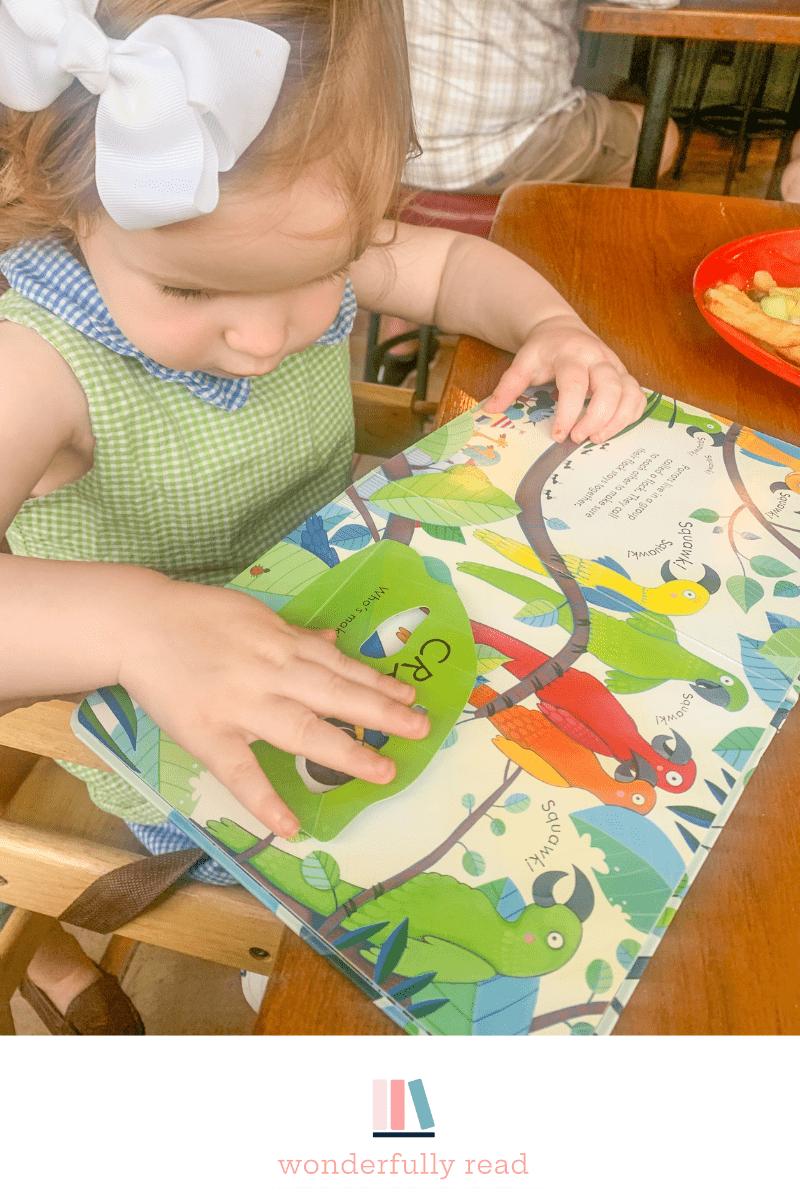 child reading at dinner