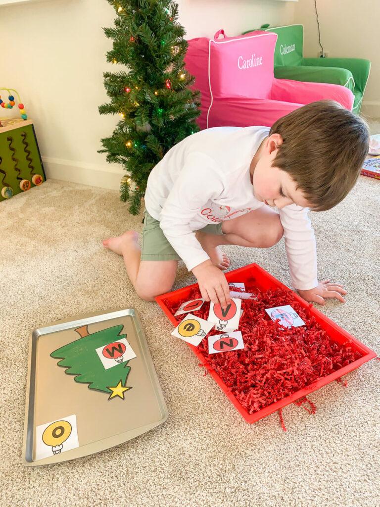Christmas letter match for preschool