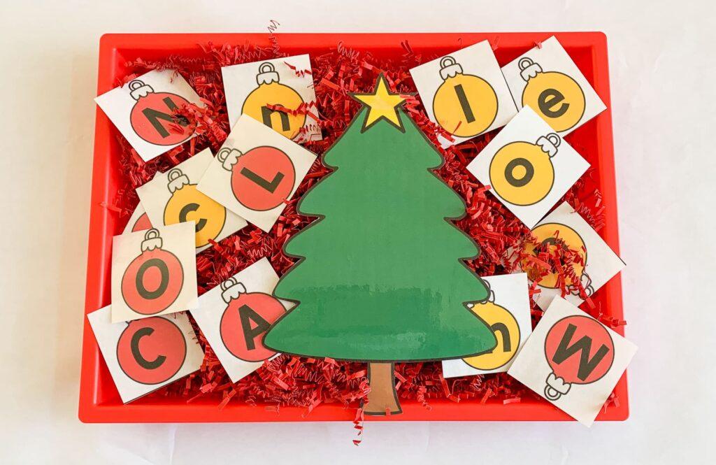 preschool Christmas literacy activity