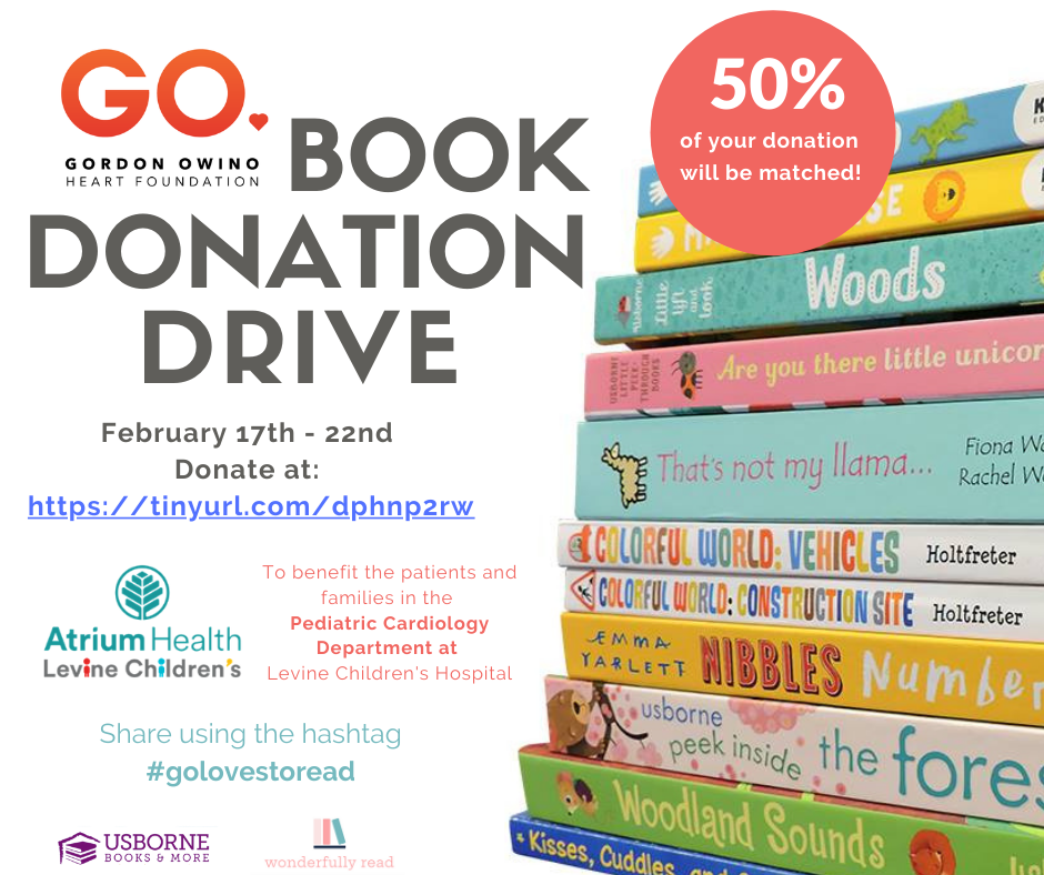 Book Drive for Pediatric Cardiology Patients at Levine